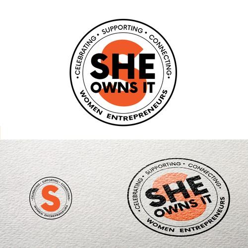 Bold Stamp Logo for Women Entrepreneurs Community