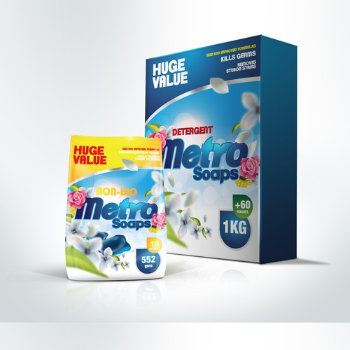 Metro Soaps product packaging design