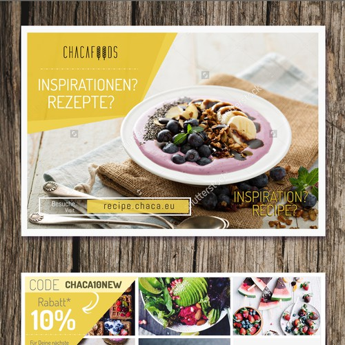 An eye-catching flyer for a food company