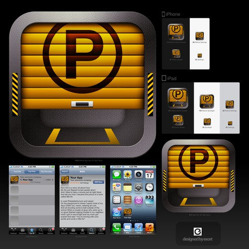 Create the next icon or button design for ParkSmart