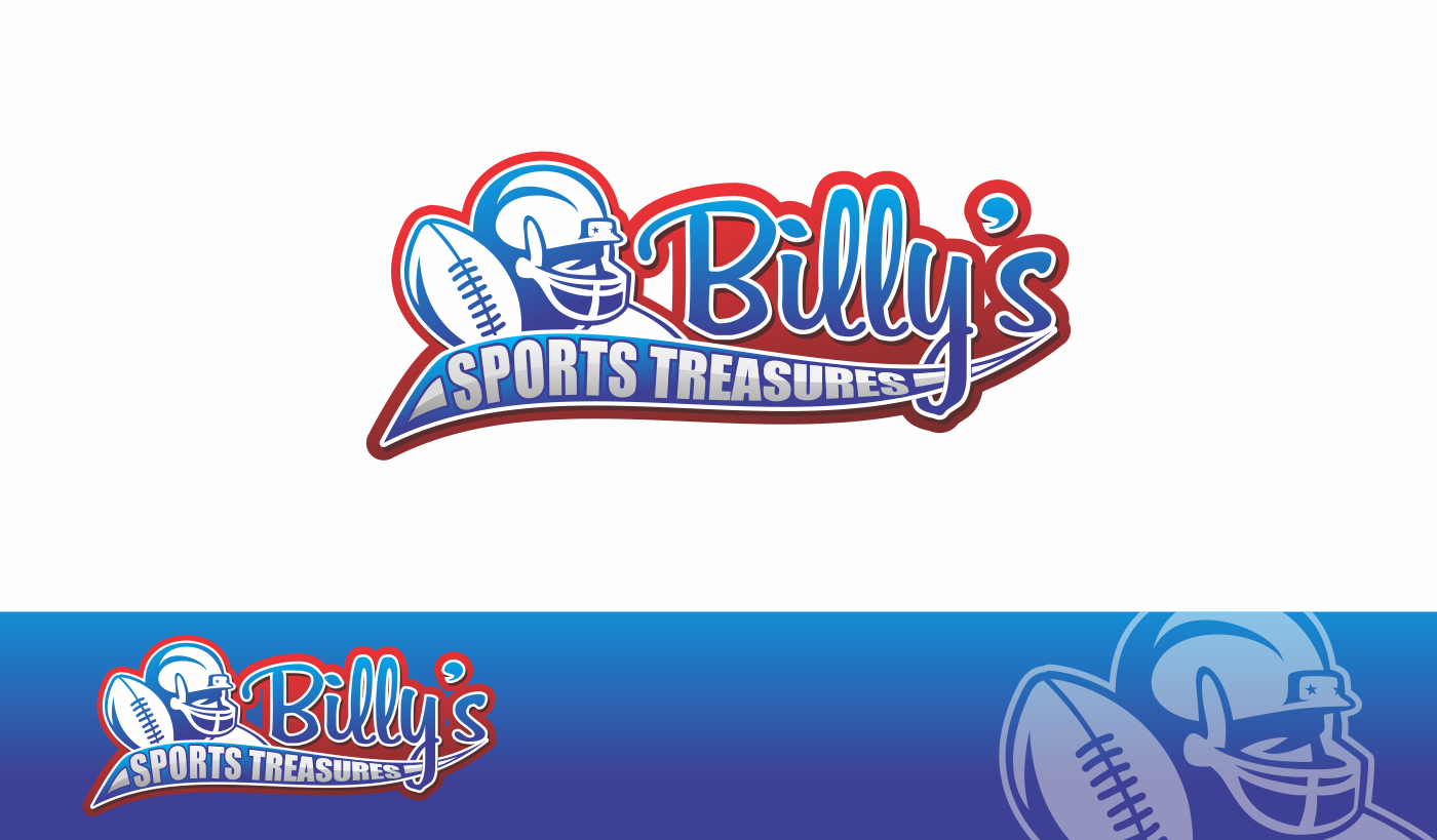 Help Billy's Sports Treasures with a new logo