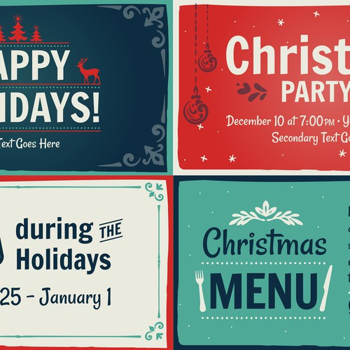 Holiday Slide Templates