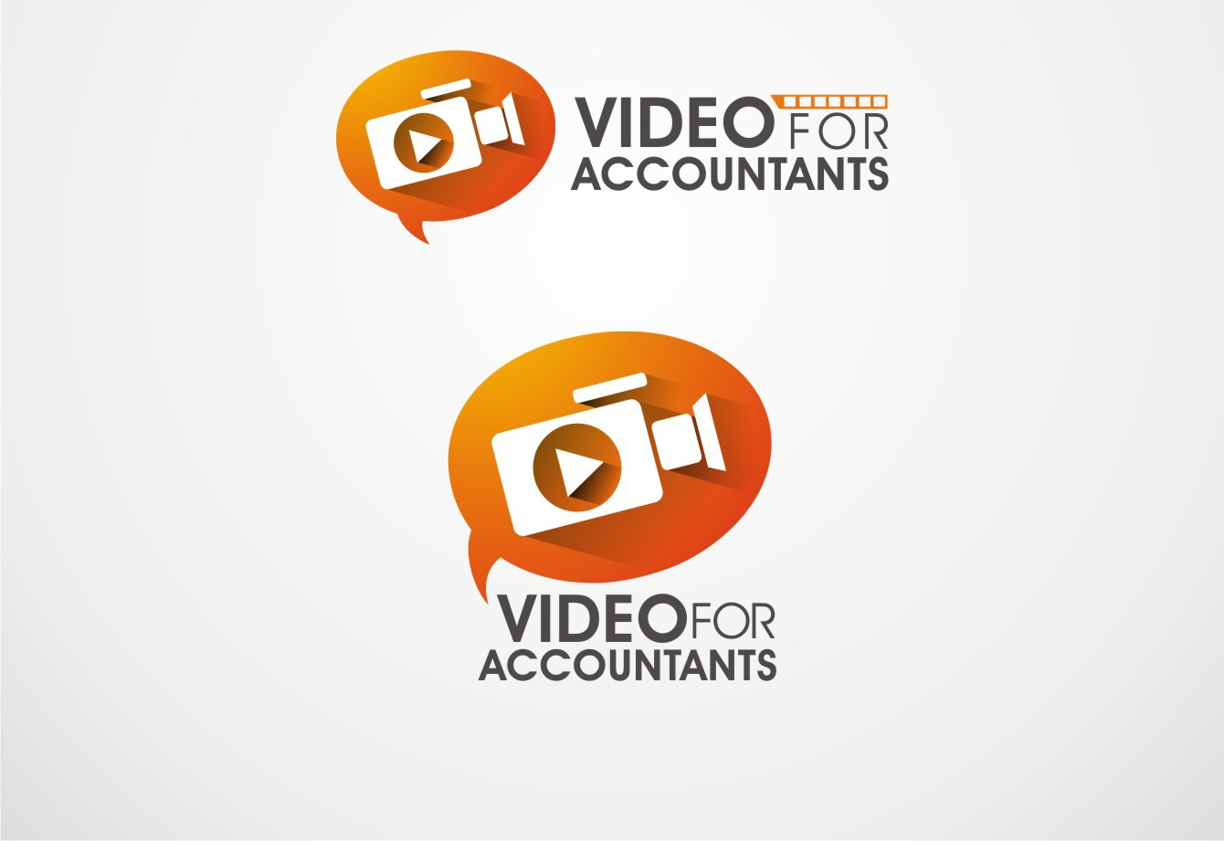Combine funky and professional in a Video for Accountants logo
