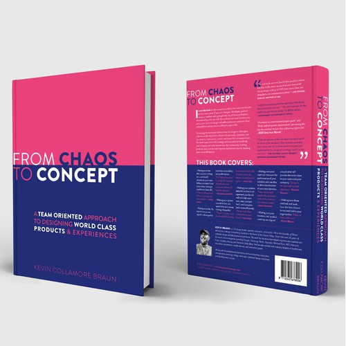 Book cover design From Chaos To Concept