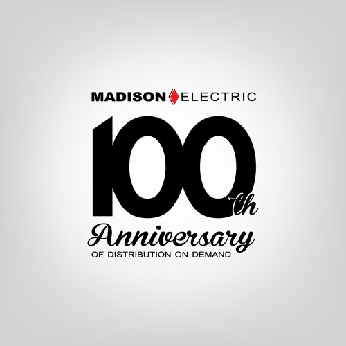 Logo for Madison Electric - 100 Anniversary