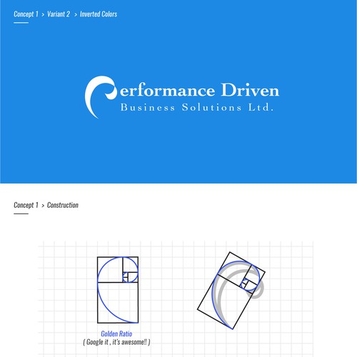 Performance Driven - Logo Design Concept 1