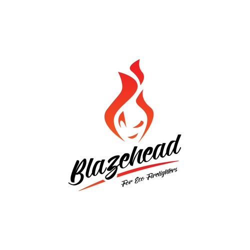 Logo concept for Blazehead Natural firelighters