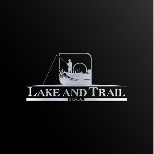 Lake and Trail Logo Design