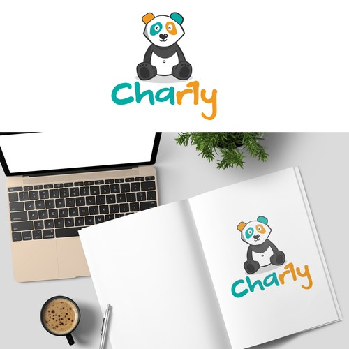 Colorful Panda logo for a baby product company