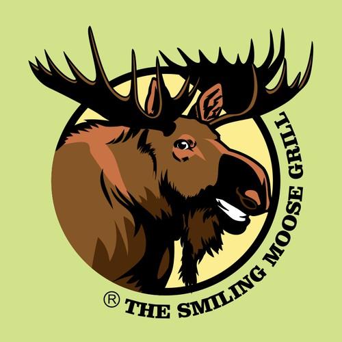 THE SMILING MOOSE Logo