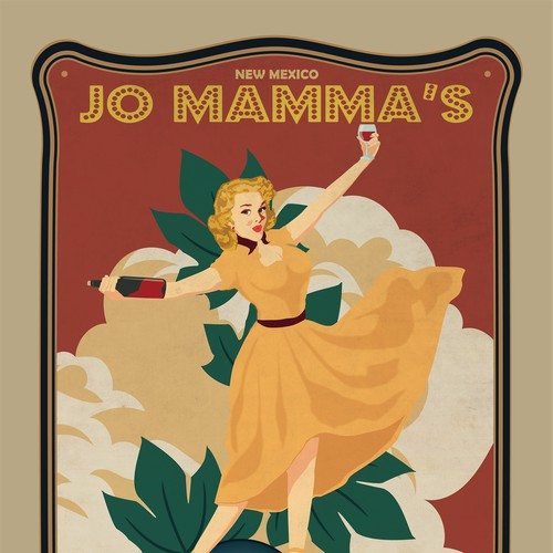 Wine label for jo mammaa