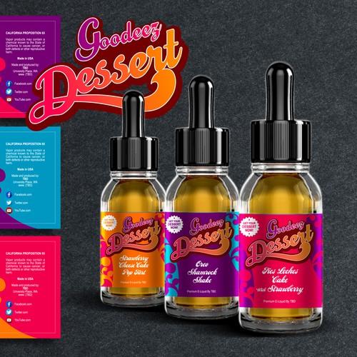 Label Design for E-Liquid Vapor