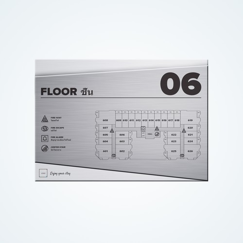 Floor layout sign