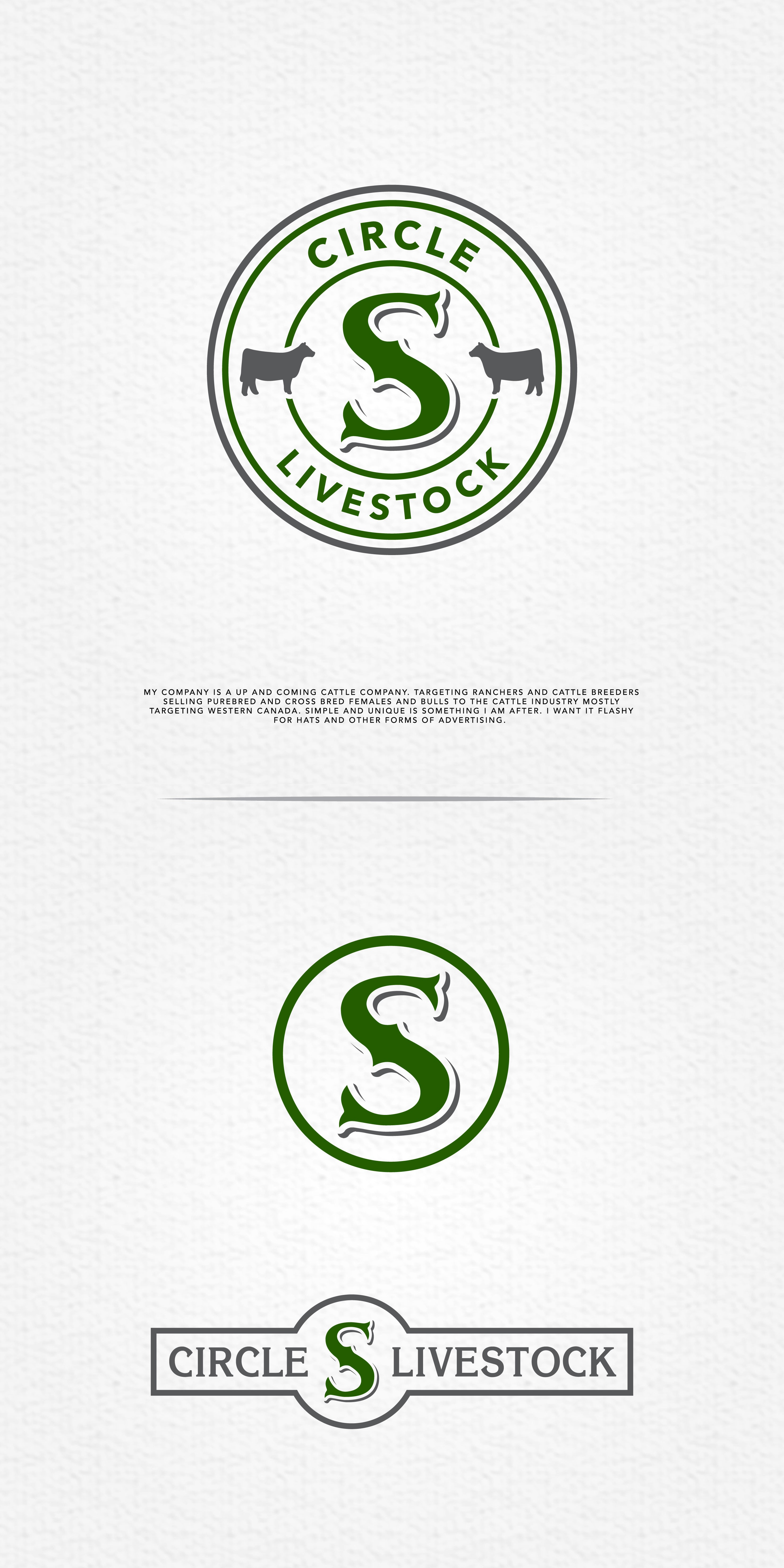 Design a standout logo for Circle S Livestock