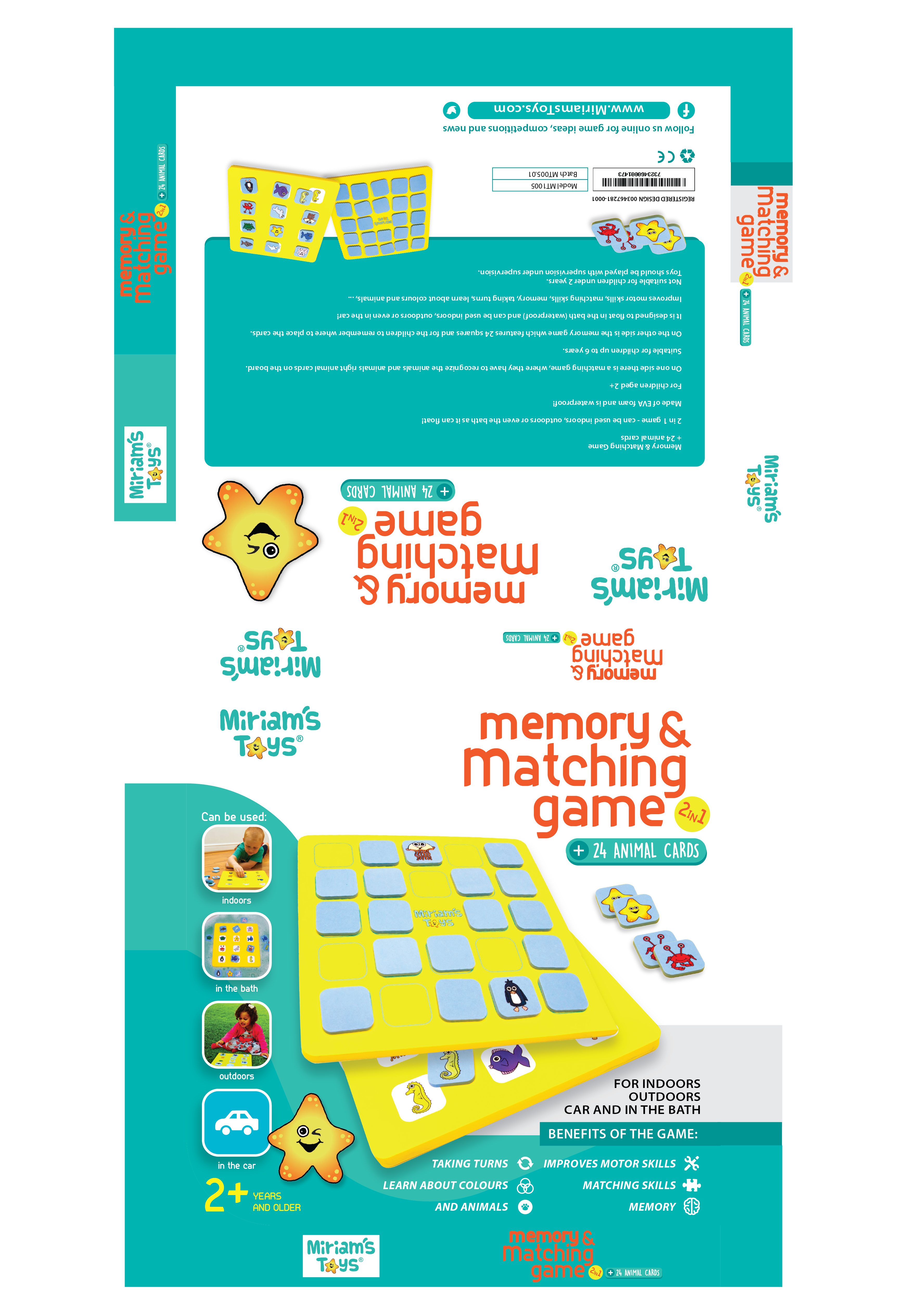"""Graphic design for our """"Memory & Matching Game"""" (2in1) + we have an other 3 games that we need packaging for ..."""
