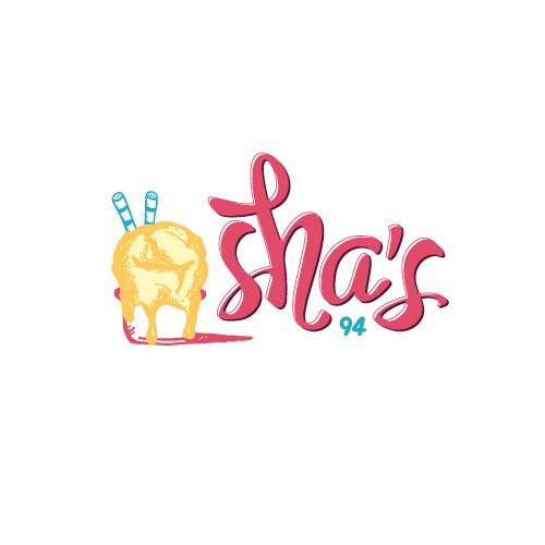 Hand drawn logo for an ice cream shop