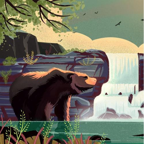 National Parks Game Postcard