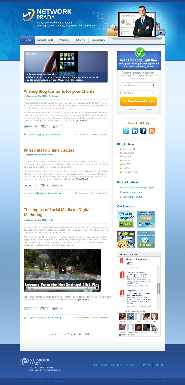website design for NetworkPrada (wordpress and icontact autoresponder)