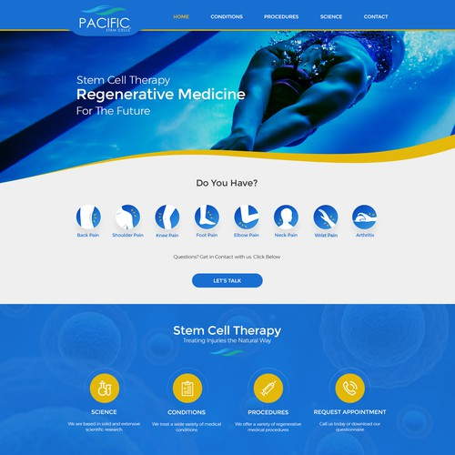 Landing Page for Stem Cell Therapy
