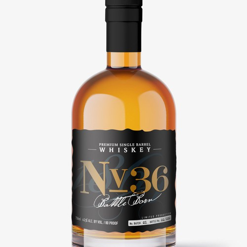 Brand and label for whisky