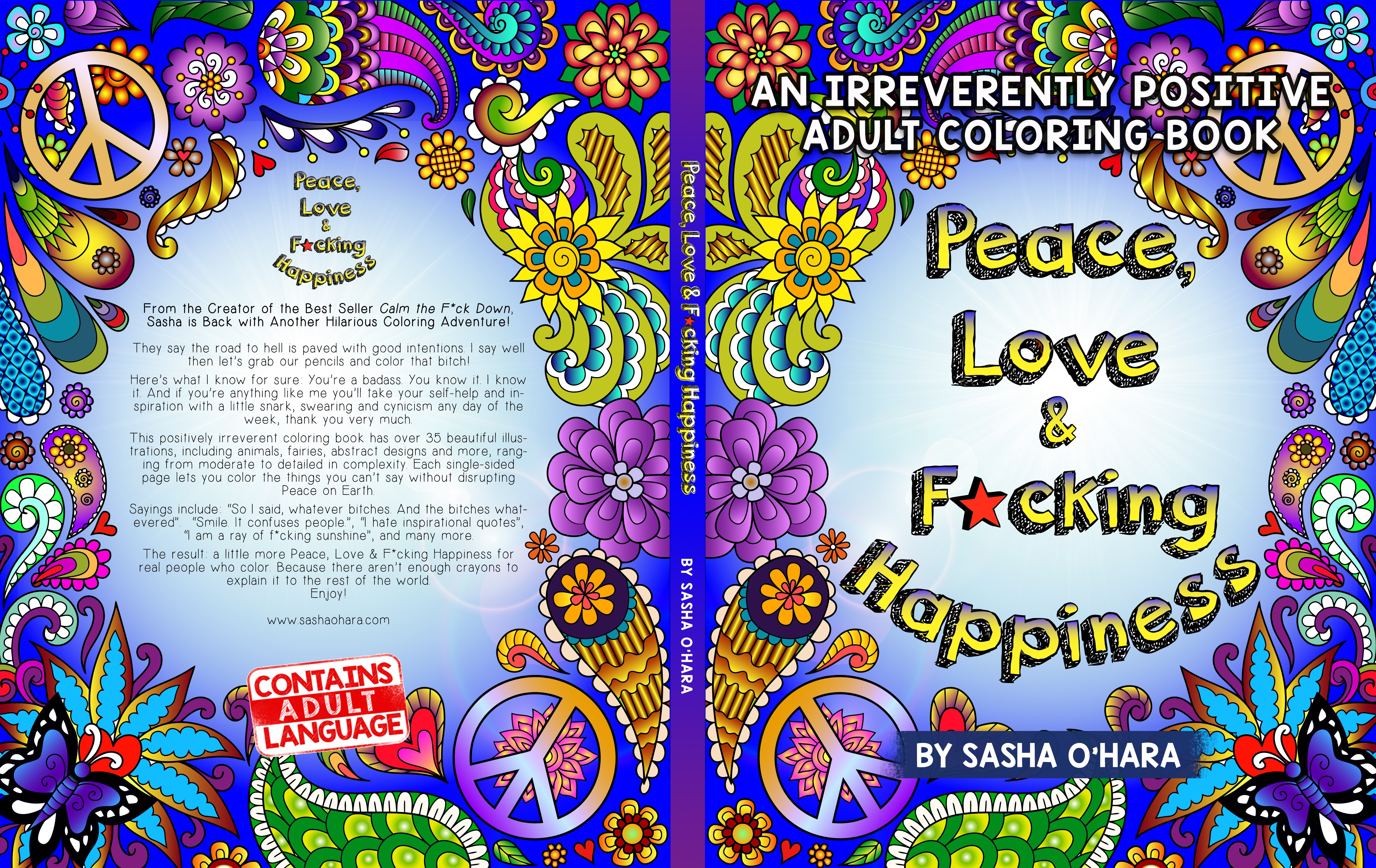 Adult Coloring Book Needs Attention Grabbing yet Soothing Cover