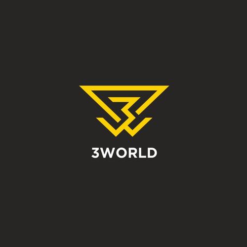 logo for 3 world.