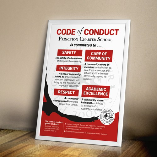 Code of Conduct sign Princeton Charter School