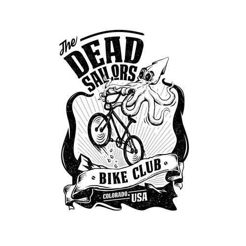 Create a fun, vintage, hipster logo for The Dead Sailors bike club.