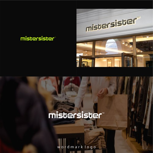 wordmark logo design for mistersister
