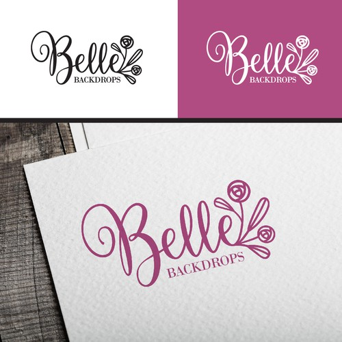 Logo Design for Belle Backdrops