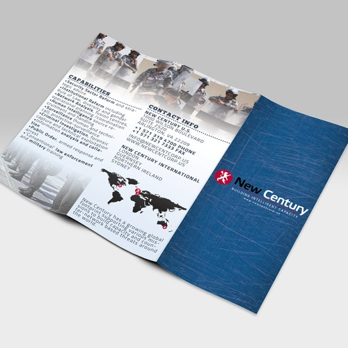 Create a new brochure for a US defense firm