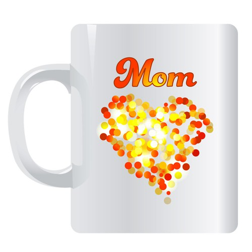 Mom + hearts  mug design