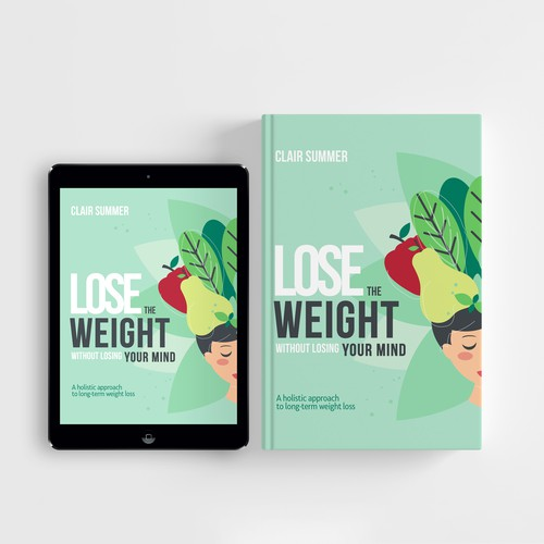 Concept cover for a book about holistic and healthydiet