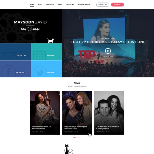 Website for Actress & Comedian Maysoon Zayid