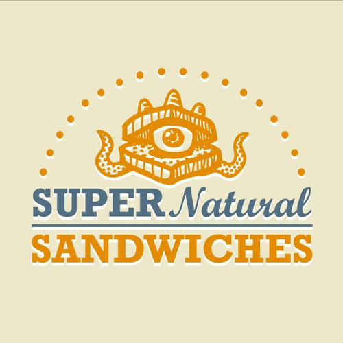 """Super Natural Sandwiches""  logo"