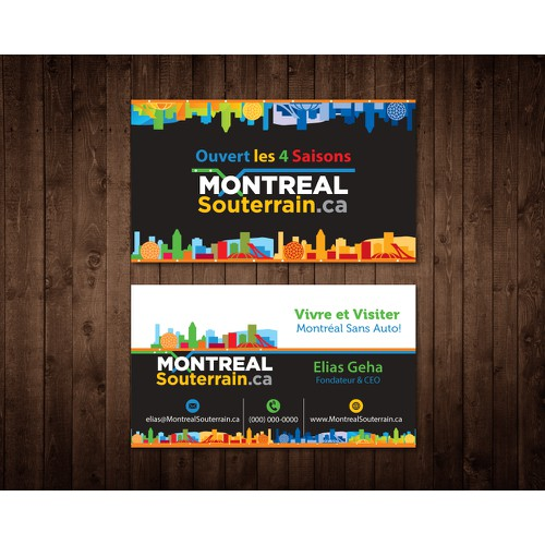 "Create a Colourful Business Card (with an Advanced Draft) - for ""Montreal Souterrain"""