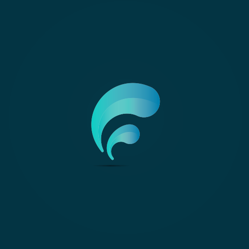 Minimal geometric wave logo for Brand New Houston