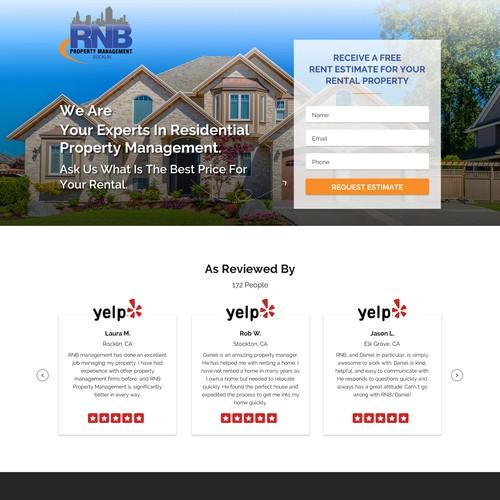 Property Management Real estate Landing page