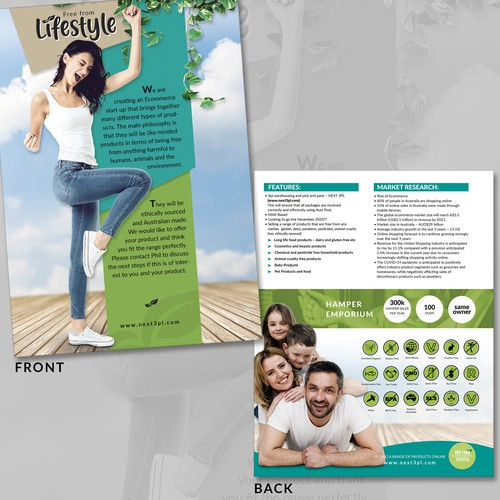 Free from life Flyer design