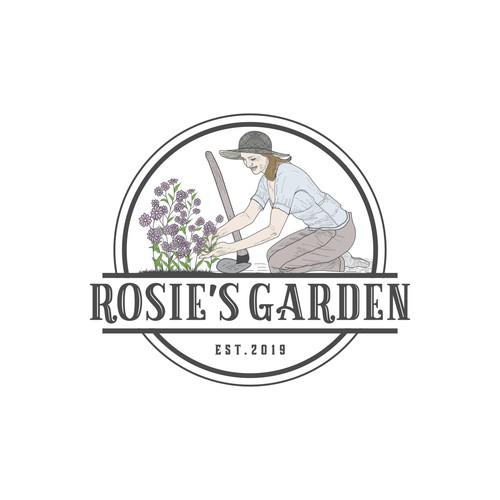50's vintage logo rosies Garden