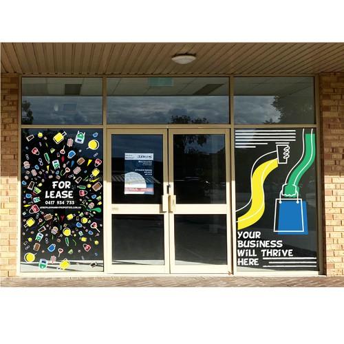 Shop Window sticker design
