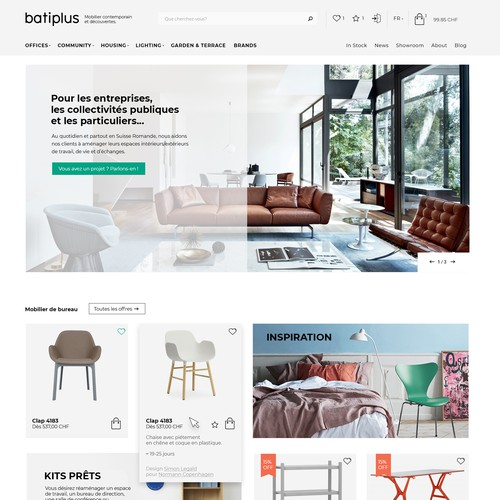 Furniture store site design