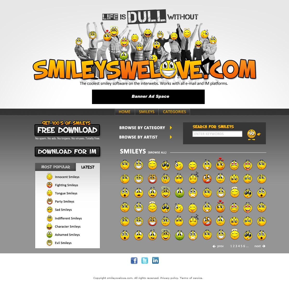 Make SmileysWeLove.com Smile to the world !