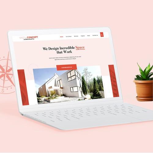 Custom Wordpress Website for Architectural Company