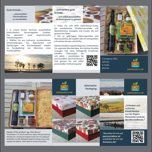 pannoniabox gift boxes need a new ++non boring++ brochure