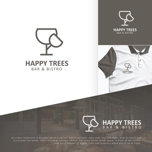 Double-meaning logo concept for a bistro.