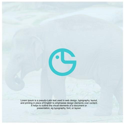 elephant minimalist logo