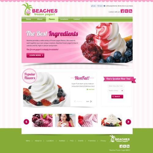 website design for Beaches Frozen Yogurt