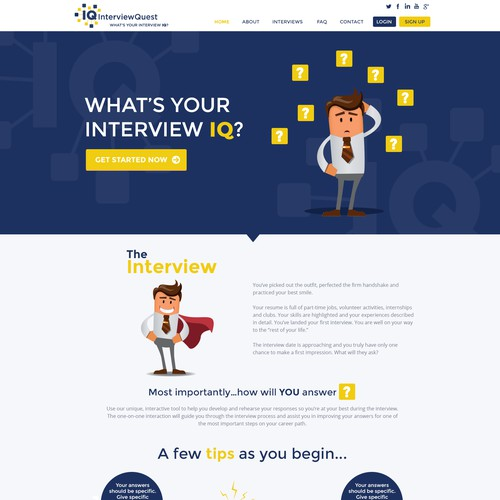 Engaging Landing Page