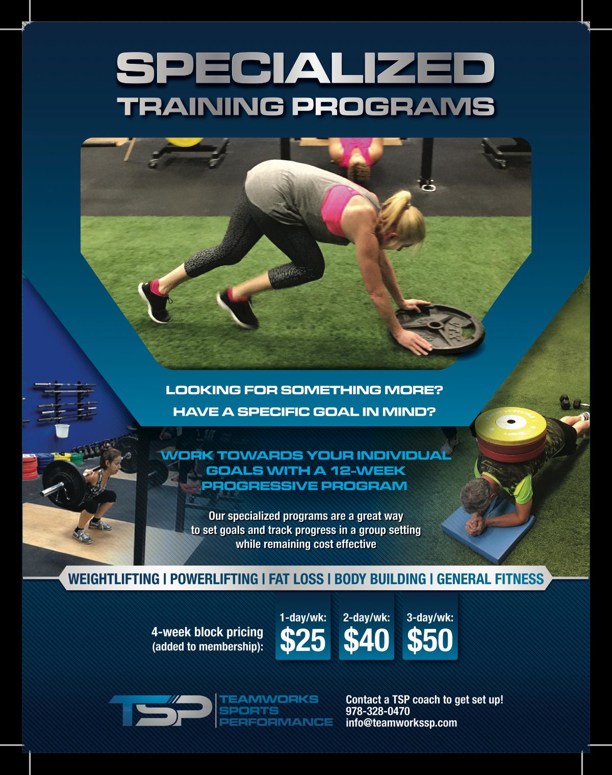TSP Individual Training Flyer